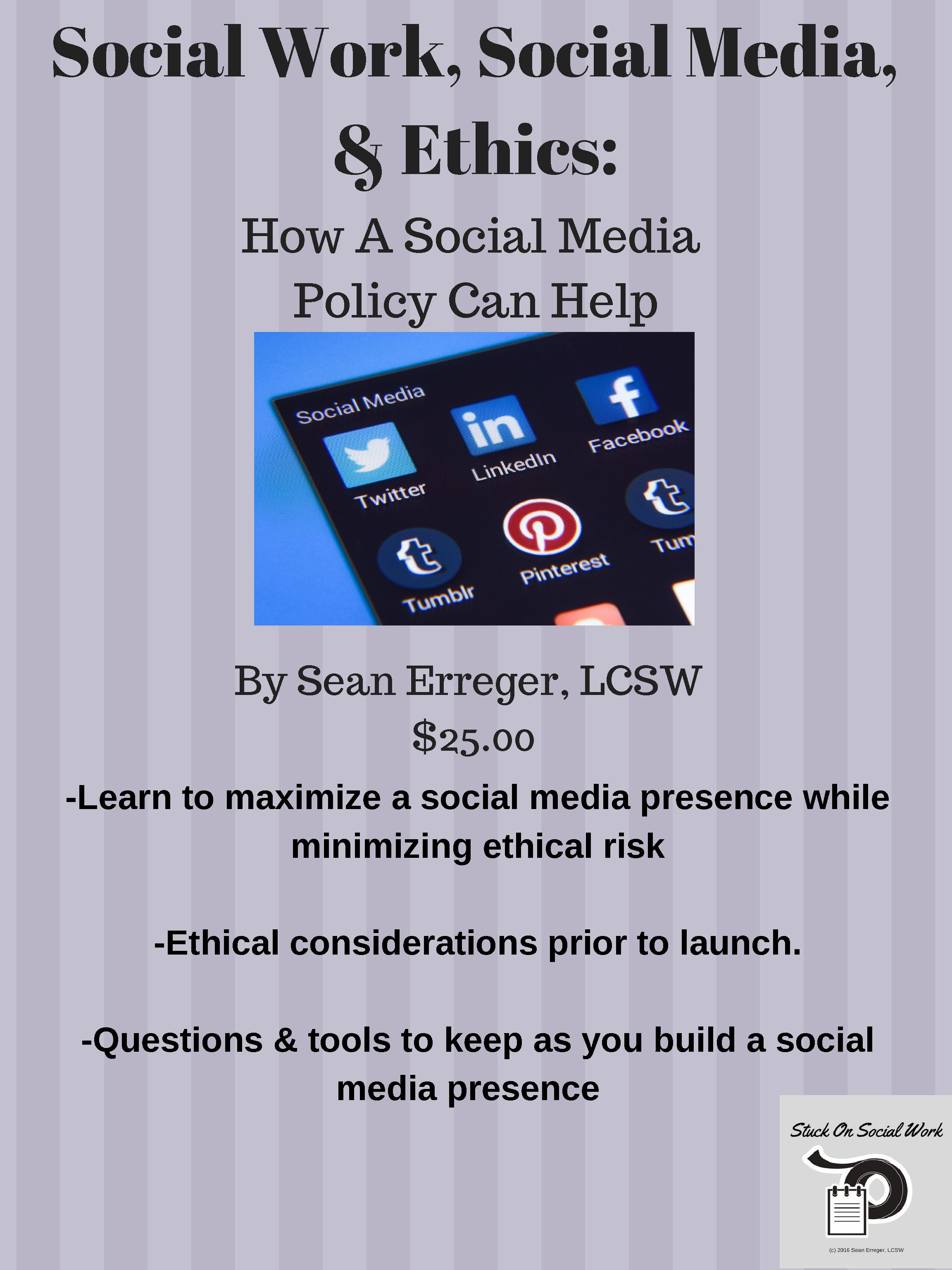 social media ethics By sandra soo-jin lee, phd social media is increasingly creating the contours  of many americans' daily lives as a medium that is.